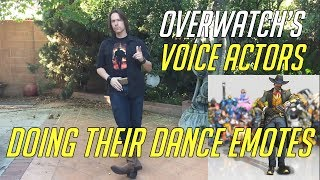 Overwatch Voice Actor Doing Their Dance Emotes | Including Genji, Sombra, Lucio Tracer & More
