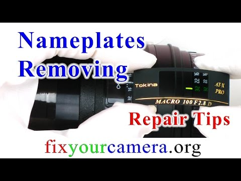 How to remove nameplates without leaving any marks…