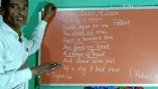 Dust and Snow by Robert Frost poem  summary in hindi class 10 video analysis