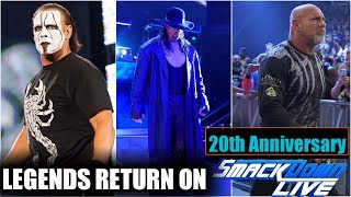 OMG! Sting, Undertaker & Goldberg Return On SDlive 20th Anniversary!🔥Taker VS Sting Confirm Sdlive!