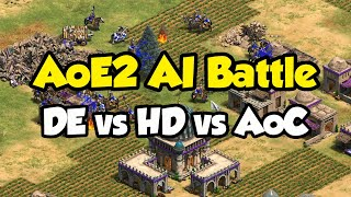 AoE2 AI Battle! Definitive Edition vs HD vs AoC