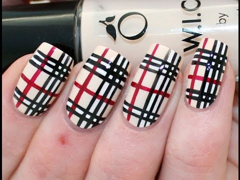 Burberry Print Nail Art Tutorial