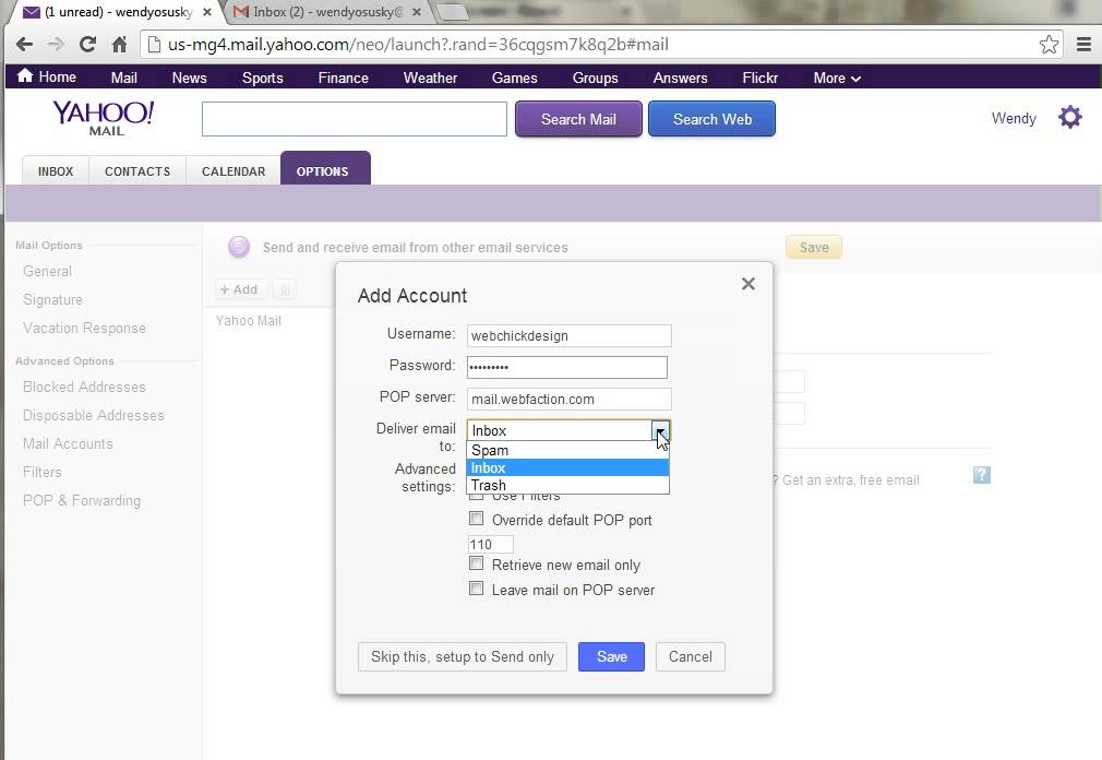 Tutorial yahoo mail add additional email accounts to for Acc email