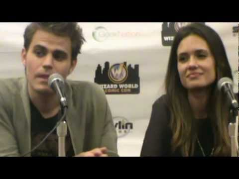Q&A with paul wesley and torrey devitto at COMIC CON 2012 PA !