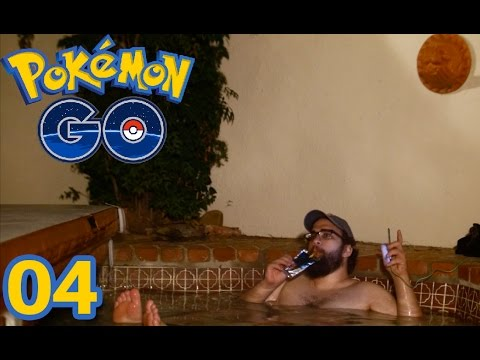 Let's Play Pokemon GO Part 4 - HOT TUB POKEMON STUFF (iOS Gameplay)