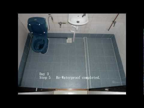 Build Perfect Shower With Quick Pitch And Vinyl Waterproofing 1of2