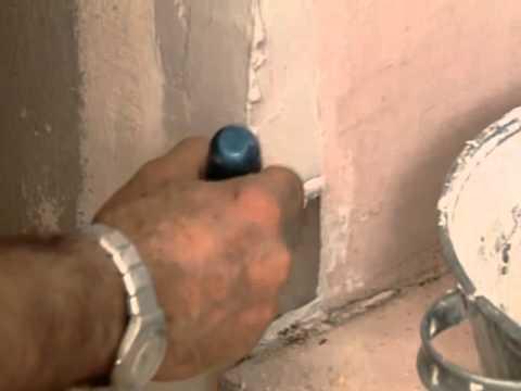 Как выровнять внутренние углы шпаклевкой
