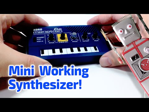 2010 MONOTRON SYNTHESIZER KEYBOARD Working Miniature by Korg
