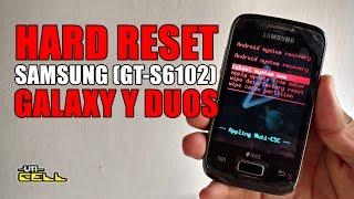 Hard Reset no Samsung Galaxy Y Duos (GT-S6102) ATUALIZADO #UTICell