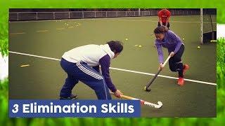 3 Elimination skills (Drag, Dummy & Haring Trick) - Field Hockey Techniques | HockeyheroesTV