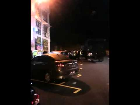 Malaysian police raid of prostitution in puchong