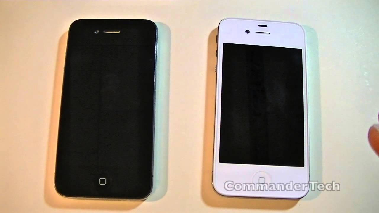 iPhone 4S or iPhone 4 White vs Black - YouTube