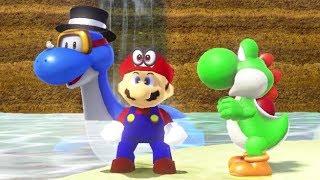 Super Mario Odyssey Walkthrough Part 14 - A Stroll Down Memory Lane (Mushroom Kingdom)