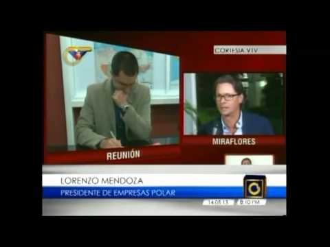 La bravuconada y la cordial reunión entre Lorenzo Mendoza de Polar y el Presidente Nicolas Maduro