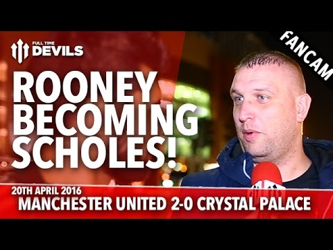 Rooney Becoming Scholes! | Manchester United 2-0 Crystal Palace | FANCAM