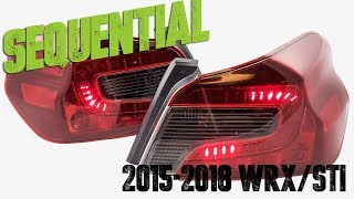 NEW 2015 - 2018 Subaru WRX / STI Sequential LED Tail Light C Bar