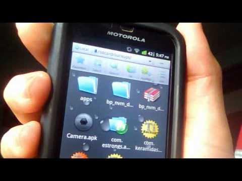 Motorola Defy cambiar archivos de red y gps