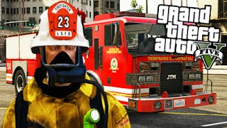 GTA 5 Mods - PLAY AS A FIREFIGHTER MOD! (GTA 5 Mods Gameplay)