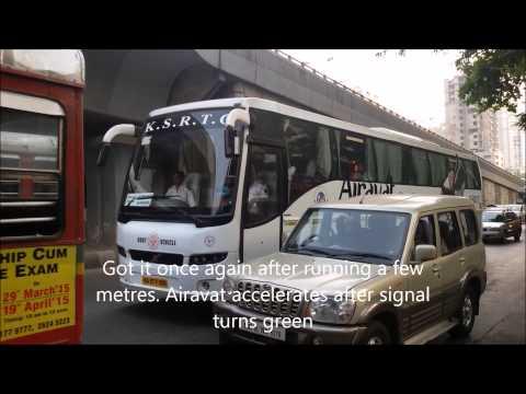 Airavat Club Class Multi Axle Volvo Bus Of Karnataka State Tourism taken in Mumbai