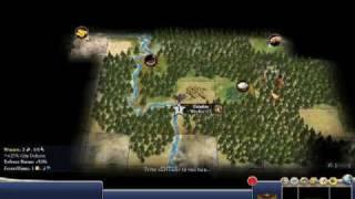 Civilization IV Strategy Walkthrough 100 Turns Segment 1 - Video 1