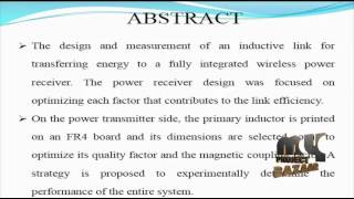 Achieving Optimal Efficiency in Energy Transfer to a CMOS   Final Year Projects 2016 - 2017