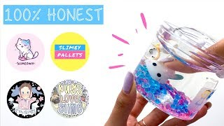 $100 Famous Slime Shop Review! Slimeowy, Flow Slimes, Slimey Pallets & Pugs Love Slime Review!