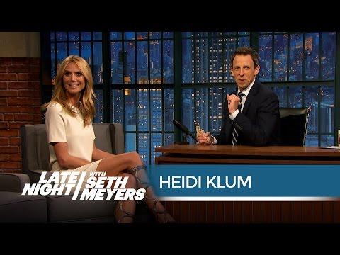 Heidi Klum, Giver of Underwear and Kangaroo Scrotum Bottle Openers - Late Night with Seth Meyers