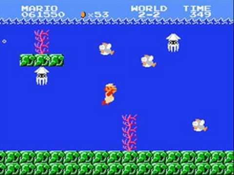 Super mario bros music underwater youtube for Mario go fish