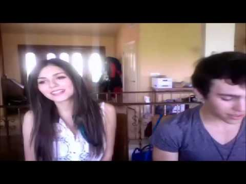 Victoria Justice and Max Schneider - Bruno Mars Medley live on Ustream