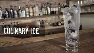Trying to find a creative garnish for your next cocktail? Don't forget about your ice!