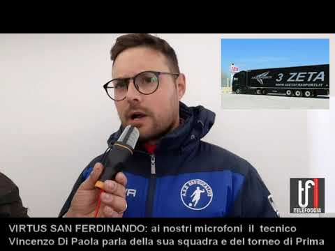 VIDEO VIRTUS SAN FERDINANDO MISTER VINCENZO DI PAOLA 29 11 19