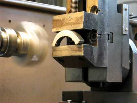 Milling on a Chinese lathe with a carbide tipped fly cutter