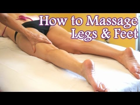 HD Fit Lower Body Massage Therapy, How To Massage Legs, Feet, Foot Massage | Athena & Dena