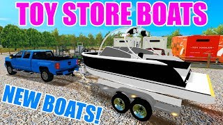 FARMING SIMULATOR 2017 | WE GOT NEW BOATS AT THE TOY STORE & NEW CHEVY 3500 SRW