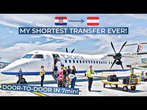 EXTREMELY SHORT TRANSFER! [Tripreport] | SPU-ZAG-VIE | Dash 8 Q400 | Croatia Airlines Economy Class
