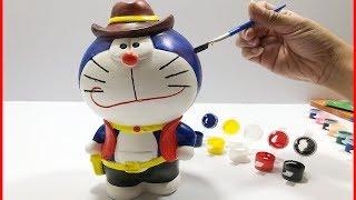 Đồ chơi trẻ em TÔ TƯỢNG MÈO Ú ĐÔRÊMON CAO BỒI - Colors painting doremon (Chim Xinh)