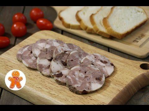 Домашняя ветчина колбаса очень простой рецепт