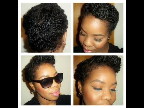 Natural hairstyle: roll, tuck and pin(with a twist)PROTECTIVE STYLE FOR TWO STRA