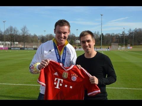 Olympiasieger Felix Loch zu Gast beim FC Bayern