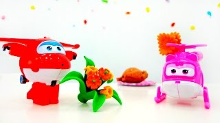 Super Wings. Toys for Kids. Dizzy and Jet on date. Супер Крылья. Джетт и Дизи на свидании.