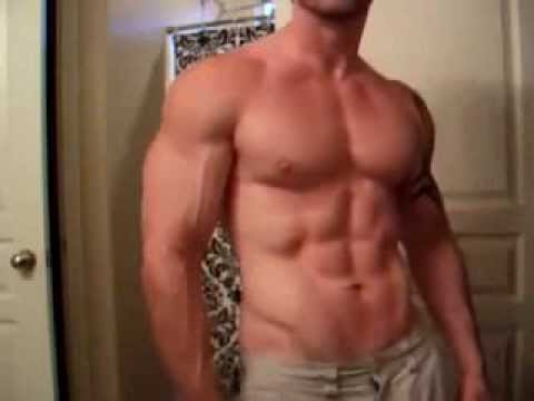 Bodybuilder With Bulging Veins And Bouncing Pecs video