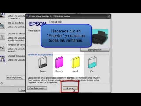 Como rellenar y agregar los códigos de las tintas en la Epson L200