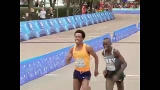 Hero Feyisa Lilesa wins 2nd place in Houston half Marathon.