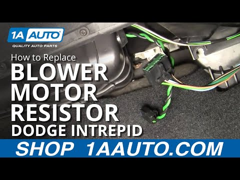 How To Install Repair Replace AC Heater Blower Fan Speed Control Resistor Intrepid 98-04 1AAuto.com