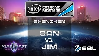 Jim vs. San - PvP - Quarterfinals - IEM Shenzhen - StarCraft 2