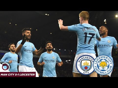 AGUERO AND DE BRUYNE DESTROY LEICESTER | Man City 5-1 Leicester City