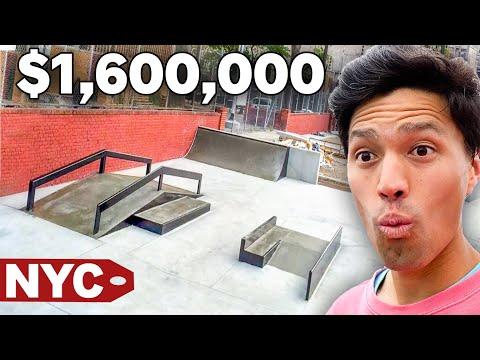$250K Skatepark Vs  $1.7 Million Dollar Skatepark   NYC