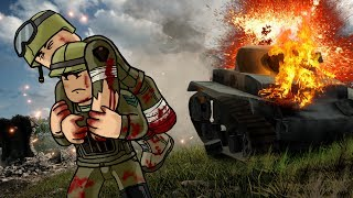 Roblox Movie | MASSIVE ARMY INVASION - Green vs Yellow Base Wars! (Roblox War)