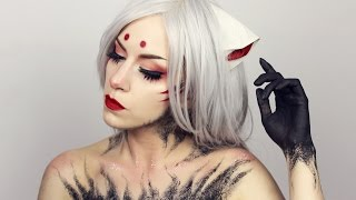 KITSUNE Inspired Anime makeup | Pale Canvas
