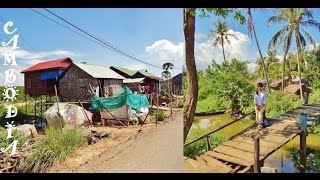 Russian girl in Cambodia, Village Houses, Views